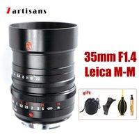 كاميرات CCTV أخرى 7artisans 35MM F1.4 M-M دليل عدسة MF كاميرا Leica M Mount To M240 M3 M6 M7 M8 M9 M10