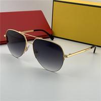 الرجال النساء العلامة التجارية الفاخرة النظارات الطيار شكل نصف إطار المعادن الإطار مصمم الأزياء نظارات رجالي كوستا نظارات الشمس مع مربع 0036