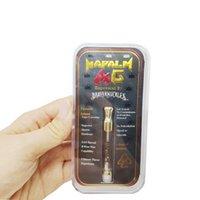 Vendita calda Brass Twuckles Gold Cartucce d'oro e 0,5 ml, 1,0 ml Capacità confezione regalo con adesivi a colori Bobina di cotone / bobina in ceramica opzionale DHL