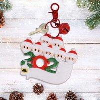 Llavero de Navidad de dibujos animados Santa Claus con la máscara de Navidad colgante llavero Árbol del ornamento Llavero Family Friend regalos del transporte marítimo de DDA597