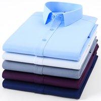 Paolo Sirum Марка Мужчины Рубашка Non Iron мужской моды с длинным рукавом Бизнес Формальное Камиза Социальный Masculina 200925
