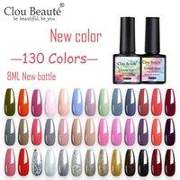 Clou Beaute nova garrafa 130 Cores Verniz Gel 8 ML verniz UV Pintura Semi Nails Permanente Art Gel Lakiery Hybrydowe Lacquer