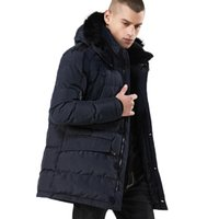 2020 New Winter Long Thicken Coat Men Fur Hooded Thick Keep ...