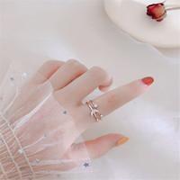 Multistrato luna stelle anelli aperti donne cz cubic zircone moda semplice anello dito anelli nuziali anelli di cerimonia nuziale gioielli di fascino accessori regalo di Natale