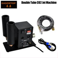 Gigertop Double Pipe Stage Stage CO2 Macchina commutabile DMX Controllo CO2 Colonna Jet 6Meter Gas Tubo flessibile LED Luci del palcoscenico CO2 Dispositivo concerto 90V / 240V