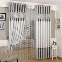 Silbergrau Europäische Luxus Vorhänge Vogelnest Spliced Vorhang Stickerei Tüll für Wohnzimmer Küche Schlafzimmer Voile WP221 # 4