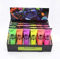 6Pcs / Set Gesicht Körper Glühend Kunst Malerei Kit Neon Neonlicht-Partei-Festival Halloween Cosplay Makeup Kinder Gesichts-Farben UV-Glow Malerei 10ml