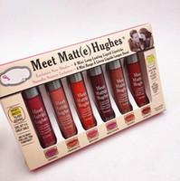Maquillaje Matte Lip Gloss Cumple Matt (e) Hughes Mini Set Lipstick líquido de larga duración con la marca en stock 6pcs / set