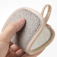 Çift ovma Yeniden kullanılabilir Sihirli Sünger Temizleme Bezi Mutfak Temizleme Araçları Fırça Pad Dezenfekte Bulaşık Havlular KKF2056 Wipe Taraflı