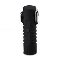 Фонарические светильники - Multifunctional USB водонепроницаемый двойной дуговой зарядки зажигал со светодиодной лампой (черный)