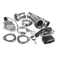 2.25-3inch di scarico delle auto ritaglio Kit di scarico cut-out Vavle con telecomando auto elettrica in acciaio inox intestazione Y Tubo