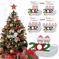 Карантин персонализированные украшения в живых семья из 2 3 4 5 6 7 с лицевыми масками ручной дезинфицированные рождественские украшения творческие игрушки