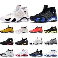2021 Yeni Jumpman 14s Erkek Basketbol Ayakkabı Kırmızı Süet SPM 14 Siyah Mavi Beyaz Şeker Kamışı Çöl Kumu Thunder Spor Eğitmenler Spor ayakkabılar