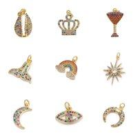 Charms Juya DIY Jewerly Accessoires Supplies Mermaid Shell Crown Tree Rainbow Crescent Evil Auge Für Modeschmuck Machen