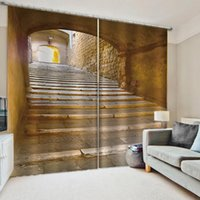 Luxury Blackout 3D Window Curtain For Living Room Stairs three-dimensional space curtains decorative curtains