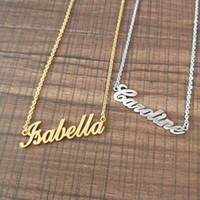 Stainless Steel Choker Custom Name Necklace Personalized Jew...