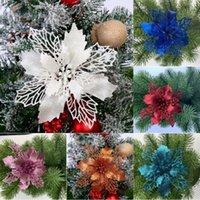 Natale fiore Natale cipolla in polvere verde con scavate fiore albero di Natale corona di ornamento senza foglie T500189