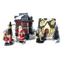 크리스마스 LED 수지 글로우 하우스 장난감 크리스마스 홈 장식 산타 클로스 크리스마스 트리 장식 크리스마스 어린이 선물 CYZ2751 바다 배송