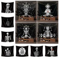 Yortusu dekor baskılı masa örtüsü yoga minderi plaj havlusu parti çubuğu arka FFA4428 asılı Kafatası goblen Euramerican moda polyester duvar