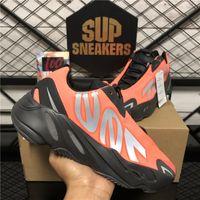 Menores de la mejor calidad para hombres que corren las zapatillas 700 MNVN Bone Orange Triple Negro 3M Reflectante para mujer para mujer deporte deporte zapatillas de deporte con caja size36-46