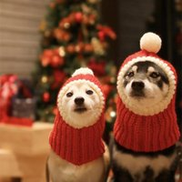Yün Noel Örme Pet Köpek Kedi Şapka Güzel Kış Yavru Köpek Kostüm Sevimli Kafa Elbise Şapka Boyutu XS S M L XL