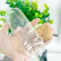 6pcs 150ml Petit Mignon en verre transparent Récipient avec bonbons Pot Lièges Rechargeables Embouteillage Cosmétique Cadeaux Bouteilles