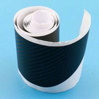 Car Auto fibra del carbón 3D de la placa del desgaste del travesaño de la cubierta Etiqueta tira de la protección del tronco