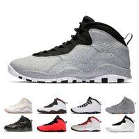 10 10S 시멘트 망 농구 신발 Westbrook 클래스 2006 년은 백인 검은 차가운 강철 회색 치 나이크 가죽요르단Retros Sneaker.