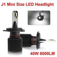 1 комплект H4 2 9003 40W 8000LM J1 LED фара Супер сфокусированный луч Наименьший Mini Размер Seoul СНТ Y19 Chips H7 H11 9005 9006 Луковицы