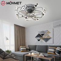 New Nordic Fan lights Frequency Conversion Chandelier with R...
