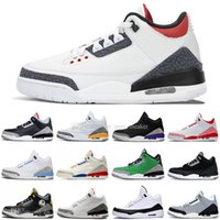 3 Court Lila UNC Mocha Herren-Basketball-Schuhe Chicago Schwarz Cement Fragment Denim Fire Red Laser orange Knicks Männer Sports Designer Trainer