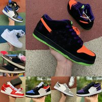 2020 New NIKE DUNK SB Jumpman 1 Herren-Basketball-Schuhe Low Tropical Licht Travis UNC Paris Obsidian Ember Grau Glow Bred Toe Retroes 1s Frauen-Trainer