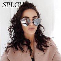 2020 New Cat Eye Aviation Sunglasses Women Fashion Vintage Rose Gold Mirror Sun Glasses Ladies Sunglasses Hut UV400 Unique Flat