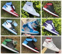 2020 Горячие Jumpman 1 1s Баскетбол обувь Атлетика кроссовки кроссовок для женщин Спорт Факел Hare игры Royal Pine Green Court 36-46