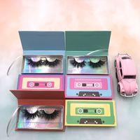사용자 지정 Lashbox 극적인 25mm 3D 밍크 속눈썹 빈 눈 눈썹 케이스를위한 견고한 상자