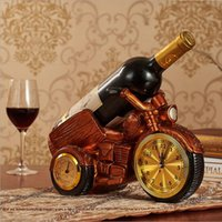 Retro new motorcycle wine glass holder resin wine holder cooking wine bottle holder with watch and thermometer romantic dinner craft collect