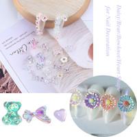 50pc 3D Nail Stone Daisy Bear Bowknot Heart Shape for Nail Decoration AB CRYSTAL RHINESTONE Summer Decal Bead #TR-3