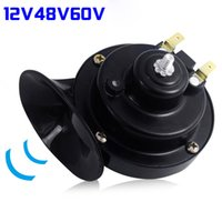 12V 48V 60V Black Electric Snail Horn Air Horn Universal Sna...