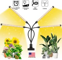 SMD2835 LED Grow Light 85W Dimmable Timing Plants Growth Lamp with 360 Degree Flexible Adjustable Gooseneck USA Stock