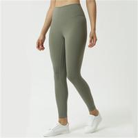 Kadınlar Enerji Yüksek Bel Elastik Tereyley-Yumuşak Spor Sporları Kız Hizala Koşu Yoga Tayt Pantolon Spor Tayt Y200904