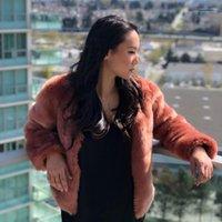 Fashion V Neck Warm Winter Jacket Casual Womens Plus Size Coats Womens Faux Fur Designer Coats