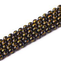 Obsidian Mantra Bead rotondo dei branelli naturali 6 8 10 12 14 16 mm Scegli la tua taglia per monili che fanno della collana dei braccialetti del pendente DIY