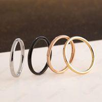 Heißen verkauf Minimalism 2mm Edelstahl-Finger-Ring-Männer Frauen-Band-Ring Toe-Ring für Großhandel Schmuck Größe 5-12