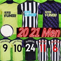 homens 20 21 NUFC Futebol Shelvey Casa longe 3ª novo 2020 2021 Joelinton Cassio Apolinário de Lira ALMIRON RITCHIE GAYLE maillot de Football Shirt