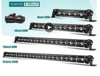 Super Bright LED Light Bar 6D 8-50inch Offroad Combo LED Bar dla Lada Truck 4X4 SUV ATV NIVA 12V 24 V Auto Light Light