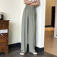 Summer 2020 Korean-style CHIC New Style High-waisted chui zhui gan Loose Versatile Students by Age Casual Loose Pants Female Fas