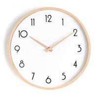 Настенные часы Nordic деревянные круглые часы дизайн стекло молчаливые животные минималистский Horloge Муральская кухня гостиной декор WB50WC