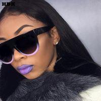 Sunglasses Fashion Cat Eye Women Chic Brand Designer Luxury Lady Summer Style Sun Glasses Female Rivet Shades UV400