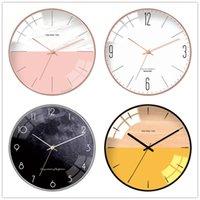 12inch Nordic Минималистский Часы настенные Креативный Transparent Quiet стекла Движение 3D часы Висячие часы Home Design House Decor