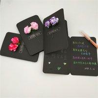 Flores secas Cartão de aniversário do dia Bênção escrita à mão DIY flores Cartões criativa Handmade de graças da Mãe Cartões VT1617